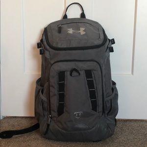 Gray Under Armour Baseball Backpack